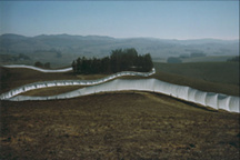 Running Fence by Christo. Photo by Marion Gray.